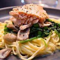 billederesultat for laks med pasta