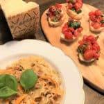 Italiensk vegetarret med bruschetta