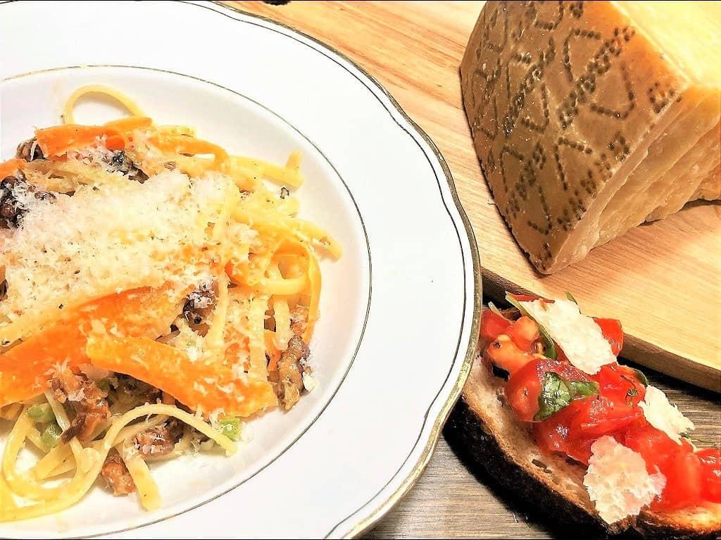 Italiensk vegetarret med hjemmelavet bruschetta