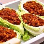 billederesultat for fyldt spidskål med oksekød i ovn