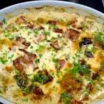 billederesultat for kyllingefad med ost og bacon