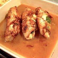 billederesultat for kyllingeruller med spinat og ost
