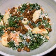 Januarsalat med grønkål