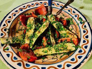 Grøntsagsfad til Middelhavskuren