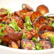 Hvidløgskartofler i ovn