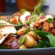 billederesultat for kartoffelsalat med kylling