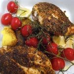 billederesultat for kyllingefilet i ovn med bacon og tilbehør