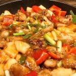 Sur-sød sauce med svinekød