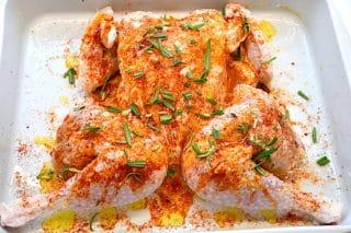 flækket kylling i ovn