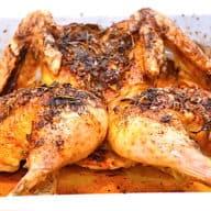 flækket kylling i ovn færdigstegt