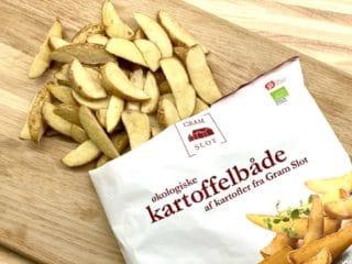 Frosne kartofler kan sagtens fås uden tilsætningsstoffer som disse fra Gram Slot, der kun indeholder kartofler og rapsolie. Foto: Charlotte Mithril