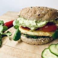 halloumiburger - vegetarburger