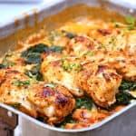 kyllingebryst med frossen spinat