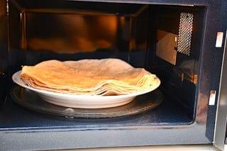 tortillas i mikroovn