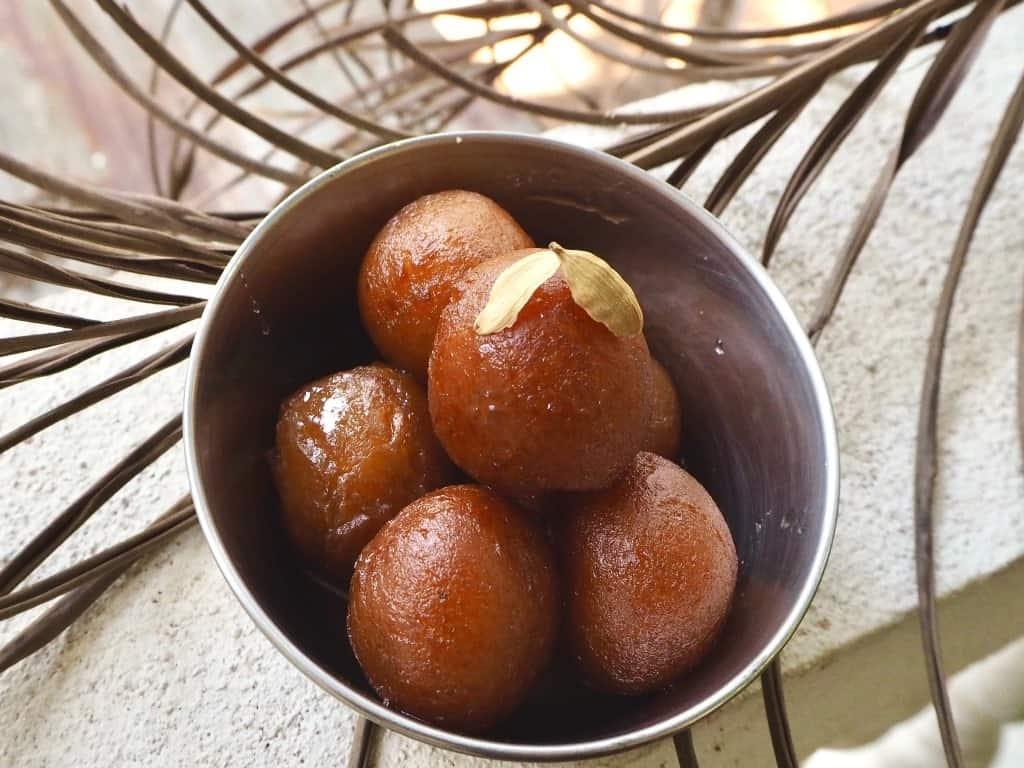 Indisk dessert gulab jamun