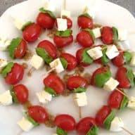 caprese italienske snackspyd