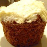 gulerodsmuffins med frosting