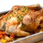 hel kylling i ovn med tilbehør