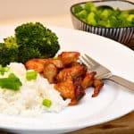 teriyaki kylling med ris og broccoli