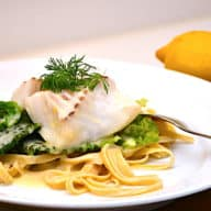torsk med savoykål og pasta