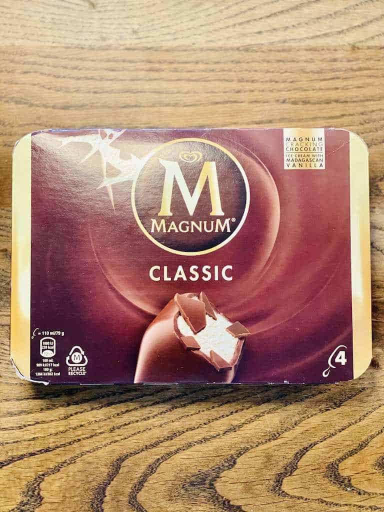 Smagstest af Magnum, Magnum Classic