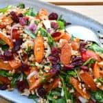 Speltsalat med bagte gulerødder