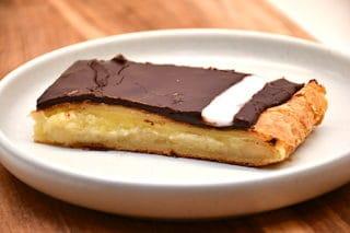 stykke af chokolade trekant