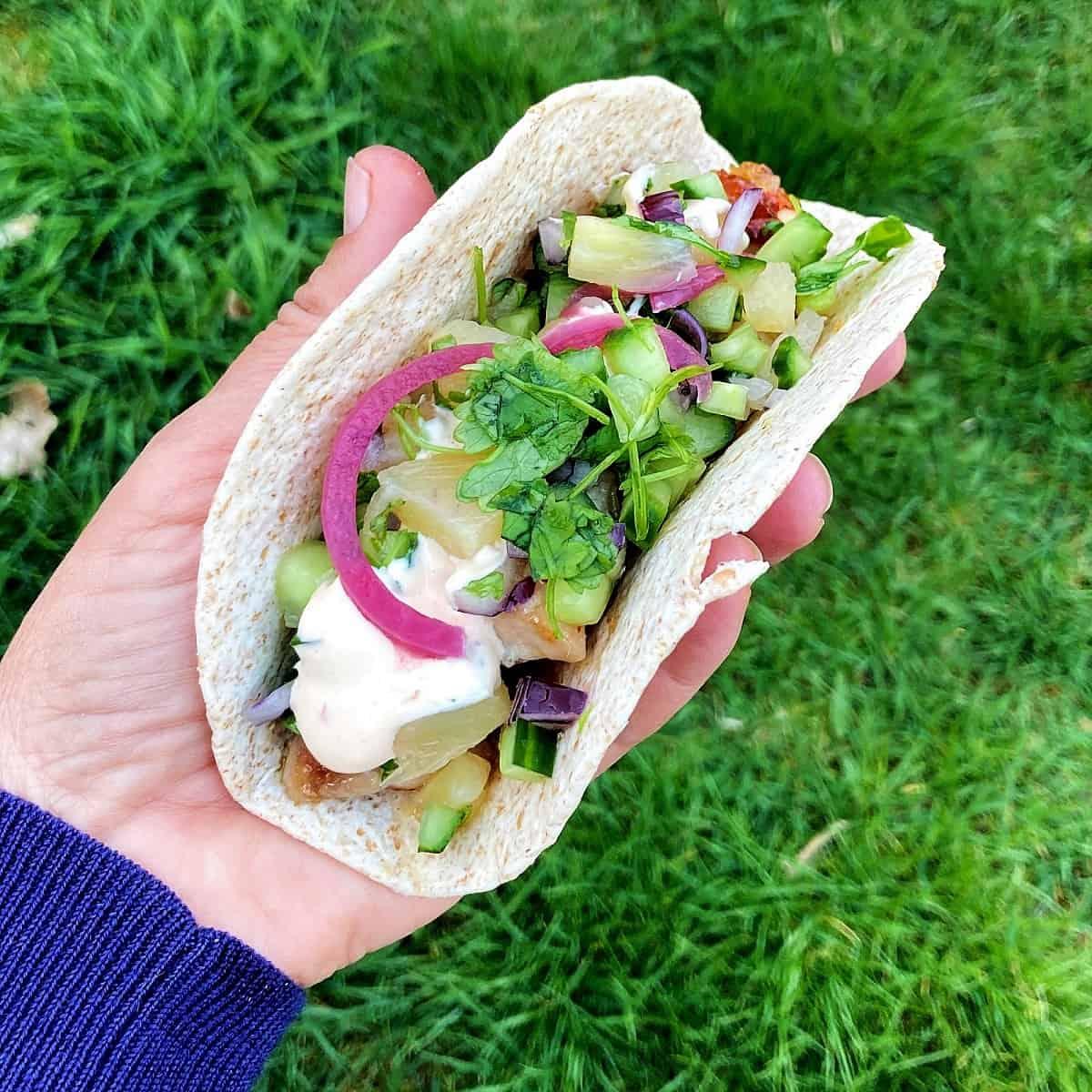 Tacos med ananassalsa
