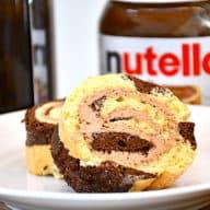 tigerroulade med Nutella smørcreme