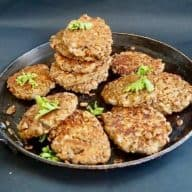 Vegetarfrikadeller som smager af kød