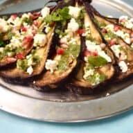 Grillet aubergine med feta