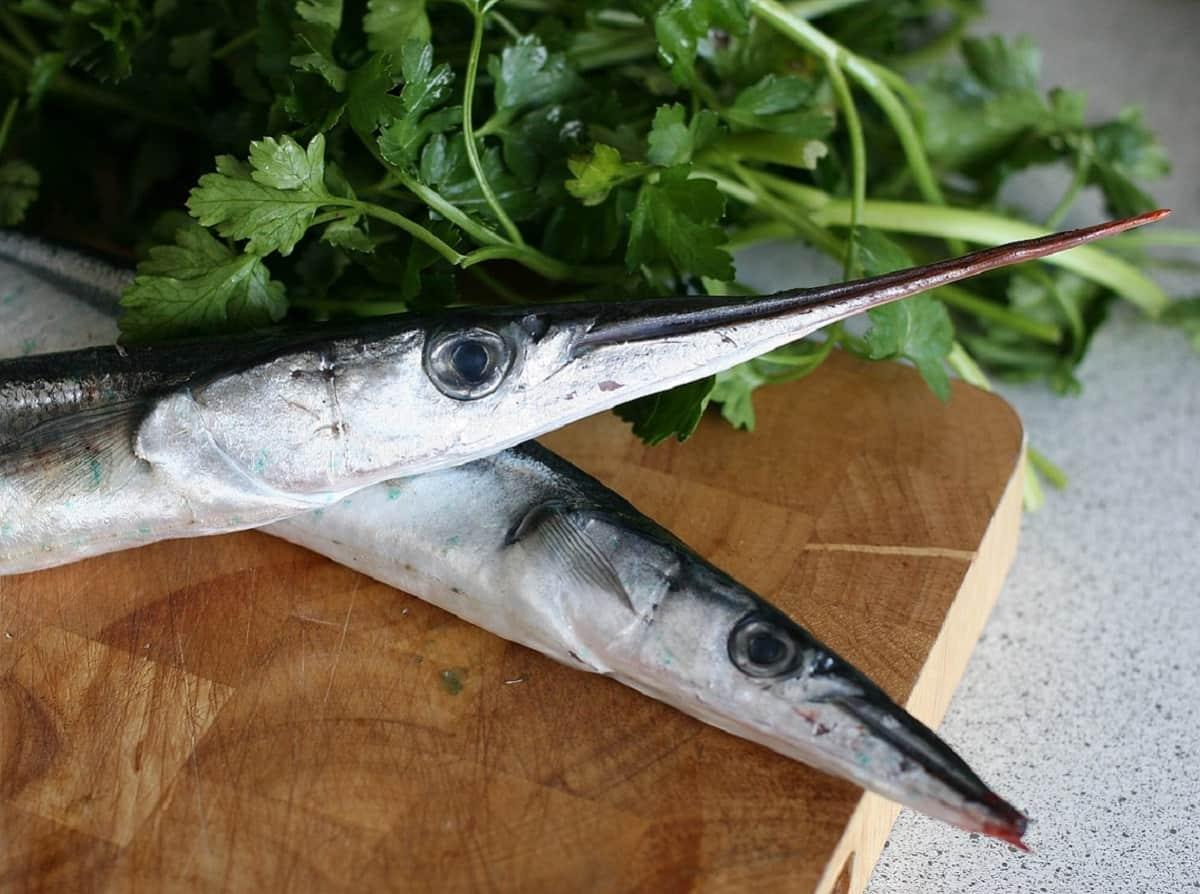 Hornfisk er fast og lyst i kødet. Fisken er en fin spisefisk, og så er prisen relativ lav. Alt i alt en rigtig god spise.