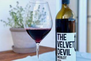 Foto af Merlot rødvin, The velvet Devil
