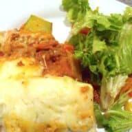 fuldkornslasagne med aubergine og squash