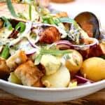 kotelet salat med kartofler, spidskål og estragon mayo