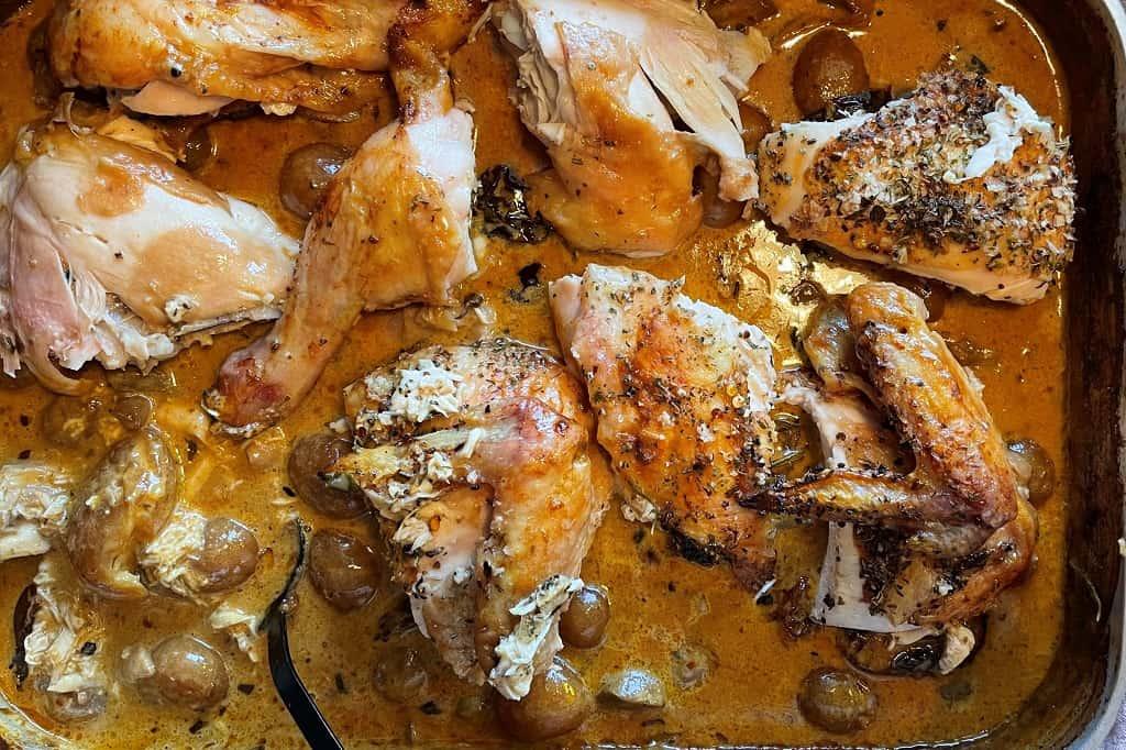 Kylling i fad på grill
