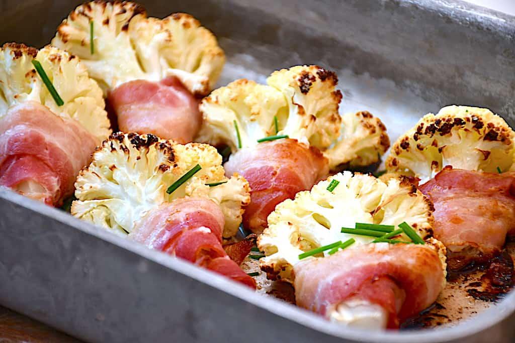 ovnbagt blomkål med bacon