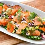 salat med koldrøget laks fra Fanø