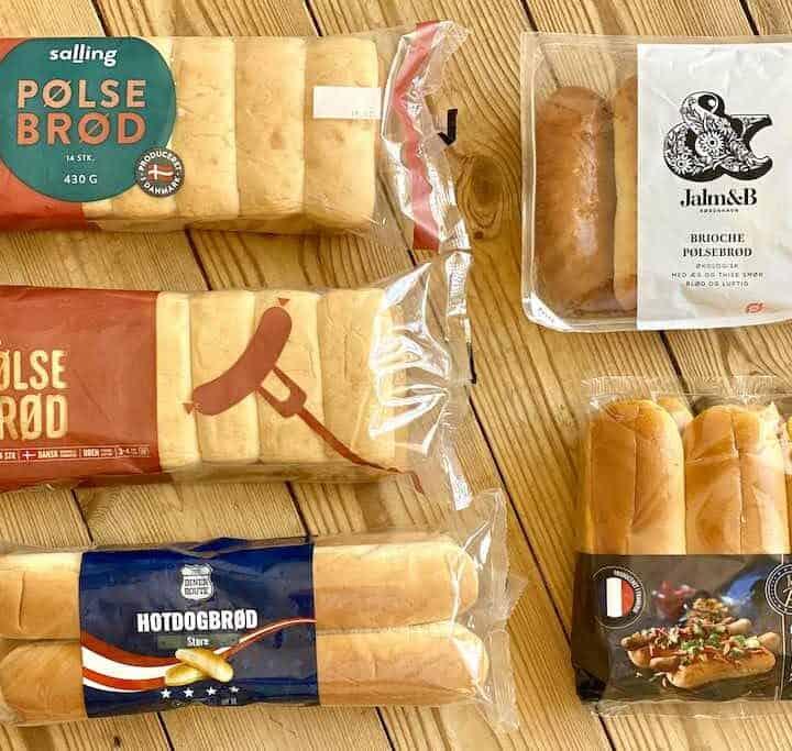Klassiske pølsebrød, hotdogbrød eller brioche - pølsebrød fås i mange forskellige varianter, men hvilke er bedst? Vi har testet fem forskellige slags i en smagstest af pølsebrød. Foto: Charlotte Mithril