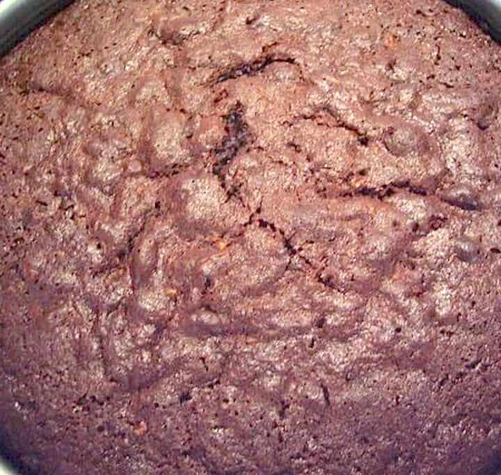 Chokolade-squash kage (chocolate zucchini cake)