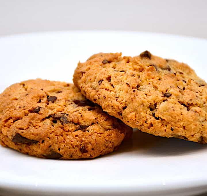 cookies med kokos og chokolade