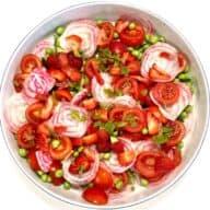 Jordbærsalat med bolsjebeder
