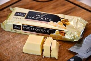 Odense hvid chokolade til chokoladekagen