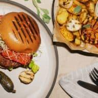 Grillede vegetarburgere