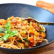 spaghetti med gulerødder