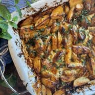 Kartoffelbåde med honning