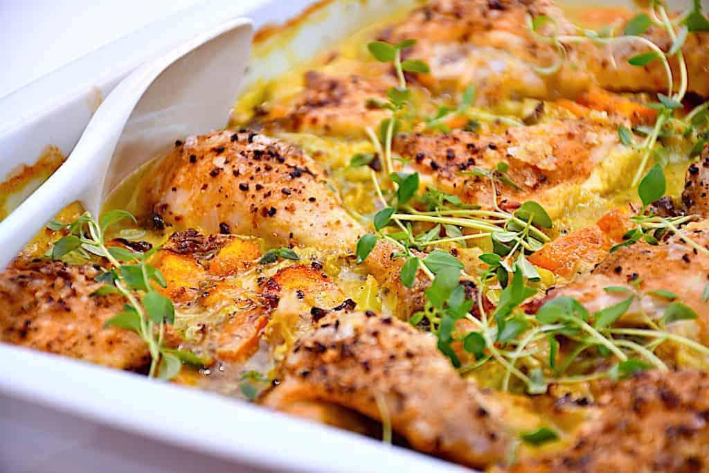Lækker aftensmad med kylling