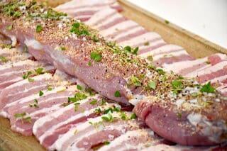 mørbrad med bacon krydres