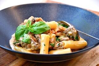 pasta med oksemørbrad