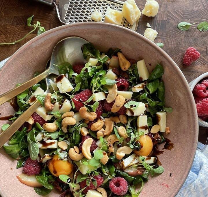 Salat med bacon